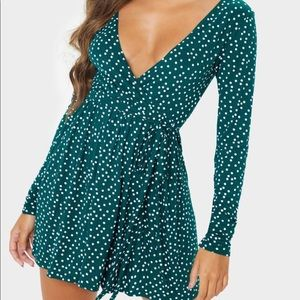 NWT- Pretty Little Thing spotted mini dress